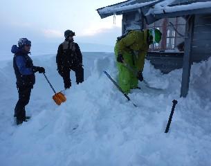 snowkite zahrab - kopeme první díry