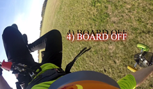 Škola kite triků - Board off - landkiting