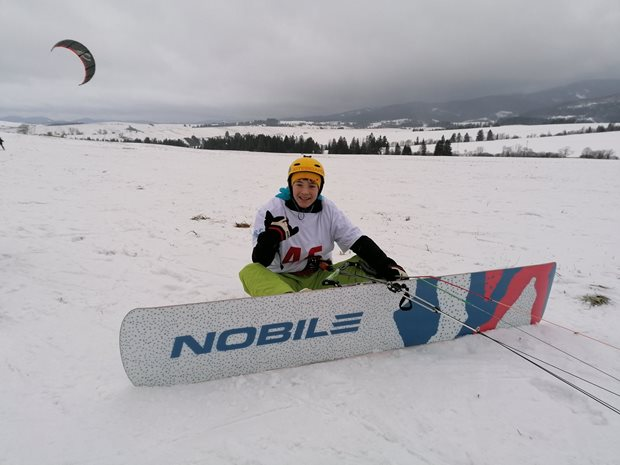Jak dlouhý snowkiteboard potřebuji - race snowkiteboard Nobile RC2000