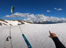 Snowkite na Col de Péas