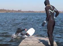 Dock foil - nástup na hydrofoil z mola
