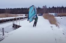 Wing Flysurfer Mojo na sněhu - video