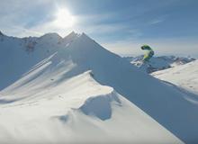 Snowkite touring FPV