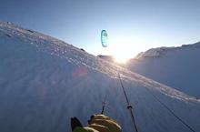 Flysurfer snowkiting video Dormillouse