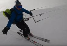 Unexpected Snowkite ride - video