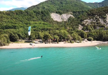 Summer kitesurf days at the lake - video