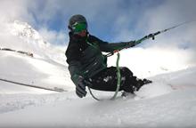 Morning routine in snowember - snowkite video