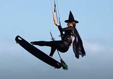 Helloween kiteboarding