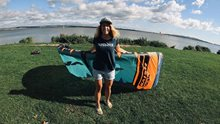 Kite Naish Triad 6m pod holčičí lupou