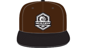 kšiltovka NAISH Headwear Wave patch Snapback - hnědá