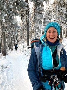 Snowkiting-Kite-session-v-krkonosich-Vyšlapat na skialpech a zvesela na to