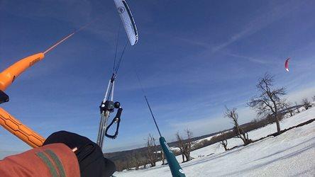 Snowkiting - Fojtovická paráda