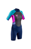 Junior wetsuit '20 3/2 GUL Response Shortie RE3321 navy/pink