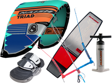 Set kite S25 Naish Triad + kiteboard 2020 Naish Motion