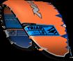 kite 2020-21 Naish Triad (Orange-Blue-Grey) side