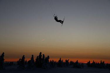 Snowkiting - Soustřéďo Martinky - day1 - sobota