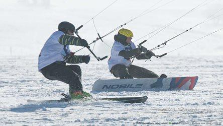 Snowkiting - Moldava cross country 2020