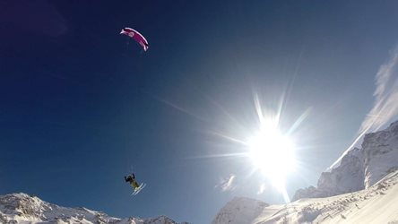 Snowkiting - Col du Lautaret pt.2