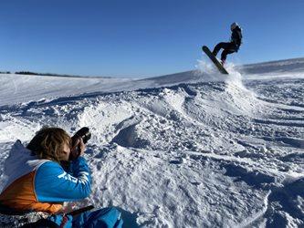 Snowkiting - Valentynske randicko s větrem
