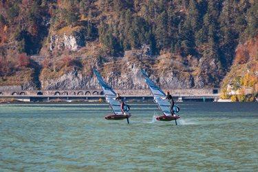 Kitesurfing - Konec října na Traunsee