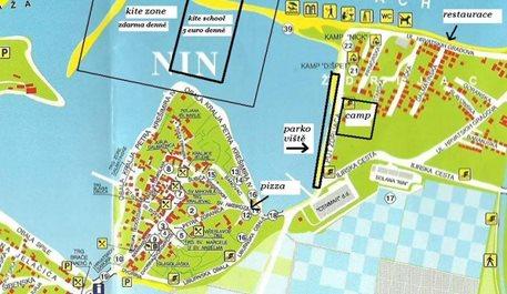 Ostrov Nin, parkoviště a kemp.JPG