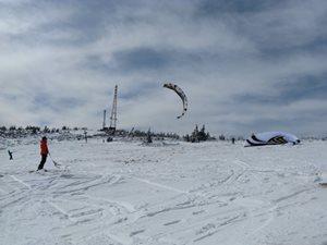 snowkiting na Martinkach