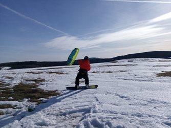 Snowkiting - Snowkite kurz Boží dar 02-2021