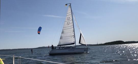 Kitesurfing - Mazury foiling
