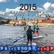 Prahou přes 3 jezy na paddleboardu 2015