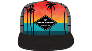 kšiltovka NAISH Headwear Palm Sunset Trucker - digital print