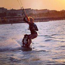 Kiteboarding a pes