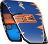 kite 2020-21 Naish Dash (Blue-Orange-Grey) side