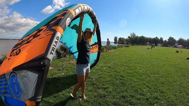 Kitesurfing-Naish-Triad-a-podzimni-Nove-Mlyny-Naish triad, Nové mlýny,test