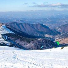 Adrenalinové snowkite jaro