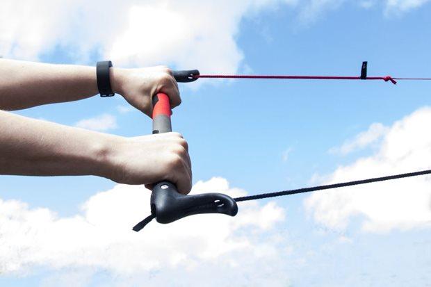 Cvičný kite - 2 line bar