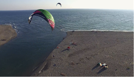 Kitesurfing-Kiteboarding-in-Montenegro-Montenegro coastline kiting