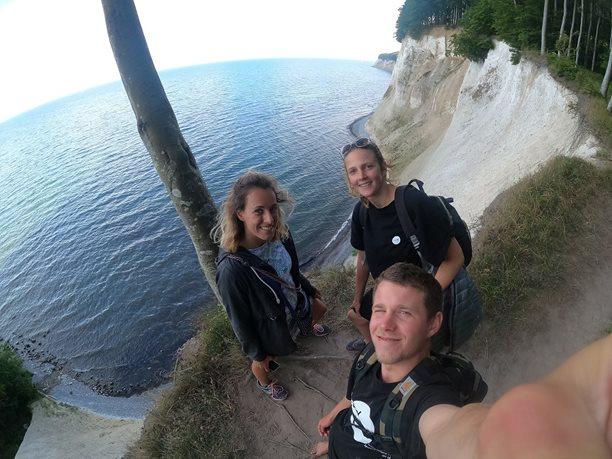 Kitesurfing-Podzimni-Rujana-Krásné Rujánské útesy v národním parku