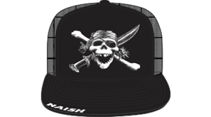 kšiltovka NAISH Headwear SkullTrucker - černá/bílá