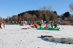 Snowkiting Lipno 1.2.2014