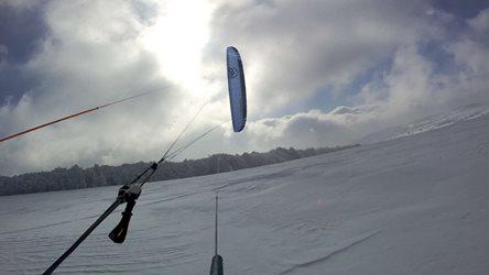 Snowkiting - Fojtovice v prachu
