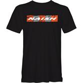 tričko NAISH Waves Rectangle Black