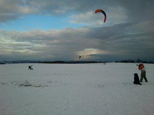 HARAKIRI snowkiting kurz Veselský kopec Oderské vrchy