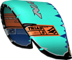 kite 2020-21 Naish Triad (Teal-Orange-Blue) side