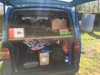 Kitesurfing-Start-a-stavba-zakladny-na-Rujane-Co se nevešlo do vozíku, muselo do našeho HARAKIRI kite kurzy auta