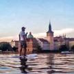Paddleboarding v centru Prahy 2014