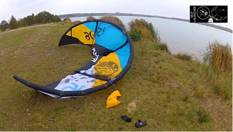 Kitesurfing-Flysurfer-kite-self-launcher-Self launcher for kites