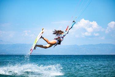 Kitesurfing - Lefkáda na začátku prázdnin