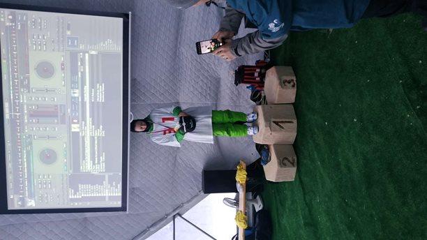 Snowkiting-OSC2021-jediná odovzdaná medaila tohto ročníka
