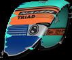 kite 2020-21 Naish Triad (Teal-Orange-Blue)