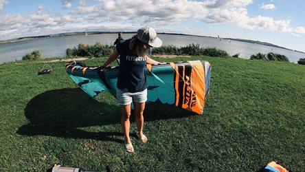 Kitesurfing - Naish Triad a podzimní Nové Mlýny